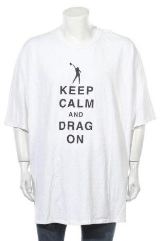 Мъжка тениска Gildan, Размер 5XL, Цвят Бял, Памук, Цена 18,90лв.