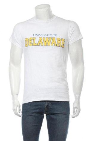 Мъжка тениска Gildan, Размер S, Цвят Бял, Памук, Цена 9,19лв.