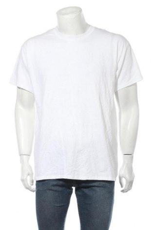 Мъжка тениска Gildan, Размер L, Цвят Бял, 100% памук, Цена 13,20лв.