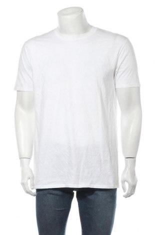 Мъжка тениска Gildan, Размер L, Цвят Бял, 100% памук, Цена 14,70лв.