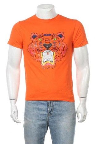 Мъжка тениска Gildan, Размер S, Цвят Оранжев, Памук, Цена 12,60лв.