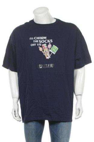 Мъжка тениска Gildan, Размер XXL, Цвят Син, Памук, Цена 27,30лв.