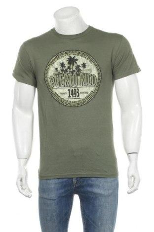 Мъжка тениска Gildan, Размер S, Цвят Зелен, Памук, Цена 26,25лв.