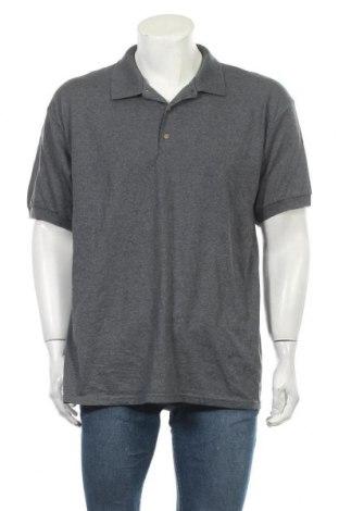 Мъжка тениска Gildan, Размер L, Цвят Сив, 50% памук, 50% полиестер, Цена 17,85лв.