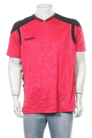 Ανδρικό t-shirt Hummel, Μέγεθος XL, Χρώμα Ρόζ , Πολυεστέρας, Τιμή 7,18€