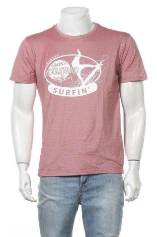 Ανδρικό t-shirt Identic, Μέγεθος M, Χρώμα Ρόζ , 50% βαμβάκι, 50% πολυεστέρας, Τιμή 3,86€