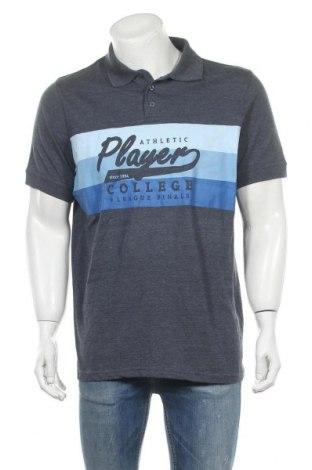 Ανδρικό t-shirt Identic, Μέγεθος L, Χρώμα Γκρί, 50% βαμβάκι, 50% πολυεστέρας, Τιμή 6,50€