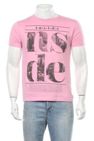 Ανδρικό t-shirt Inside, Μέγεθος M, Χρώμα Ρόζ , Βαμβάκι, Τιμή 10,39€