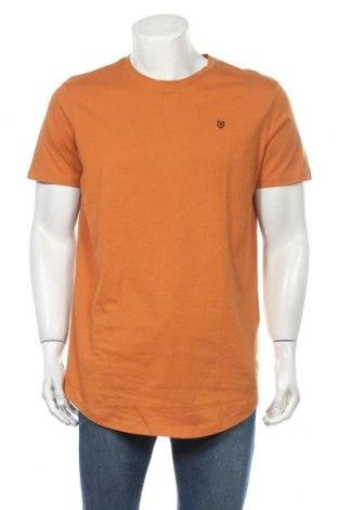 Ανδρικό t-shirt Jack & Jones, Μέγεθος L, Χρώμα Πορτοκαλί, 100% βαμβάκι, Τιμή 12,37€