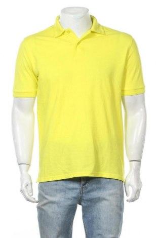 Мъжка тениска Jerzees, Размер S, Цвят Жълт, 65% полиестер, 35% памук, Цена 3,94лв.