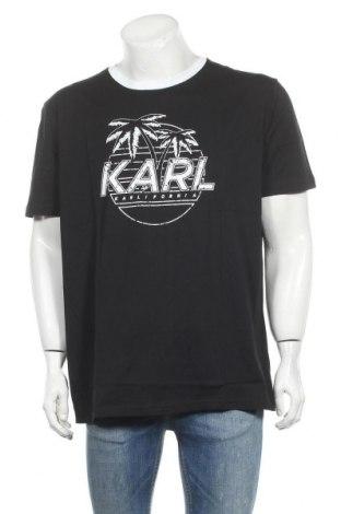 Мъжка тениска Karl Lagerfeld, Размер XXL, Цвят Черен, Памук, Цена 159,87лв.
