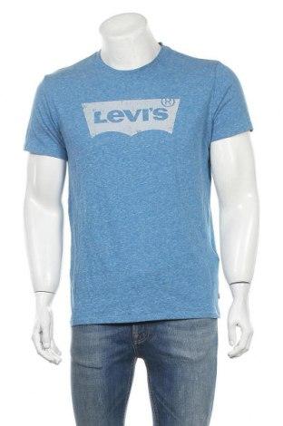 Ανδρικό t-shirt Levi's, Μέγεθος M, Χρώμα Μπλέ, 55% βαμβάκι, 45% πολυεστέρας, Τιμή 14,29€