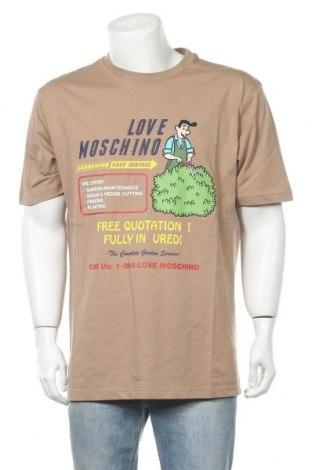 Ανδρικό t-shirt Love Moschino, Μέγεθος XL, Χρώμα Καφέ, Βαμβάκι, Τιμή 46,76€