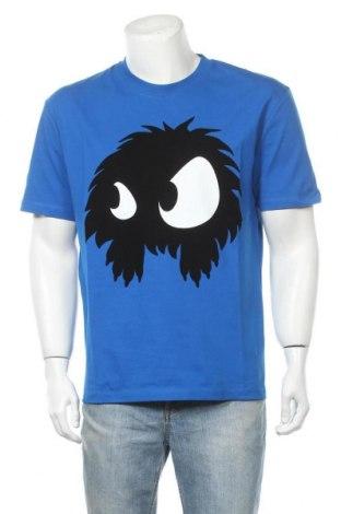 Мъжка тениска McQ Alexander McQueen, Размер L, Цвят Син, Памук, Цена 167,17лв.
