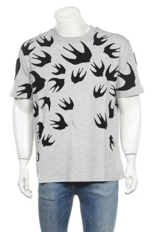 Мъжка тениска McQ Alexander McQueen, Размер XL, Цвят Сив, Памук, Цена 167,17лв.