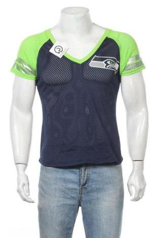 Ανδρικό t-shirt NFL, Μέγεθος M, Χρώμα Μπλέ, Πολυεστέρας, βαμβάκι, Τιμή 11,04€