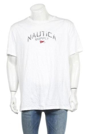 Ανδρικό t-shirt Nautica, Μέγεθος XXL, Χρώμα Λευκό, Βαμβάκι, Τιμή 10,39€