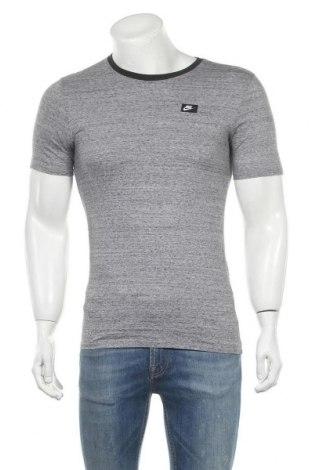 Мъжка тениска Nike, Размер S, Цвят Сив, Памук, Цена 33,60лв.