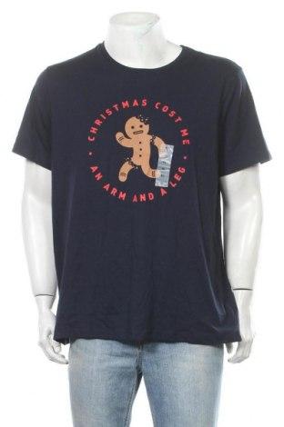 Мъжка тениска Old Navy, Размер XL, Цвят Син, 60% памук, 40% полиестер, Цена 26,25лв.