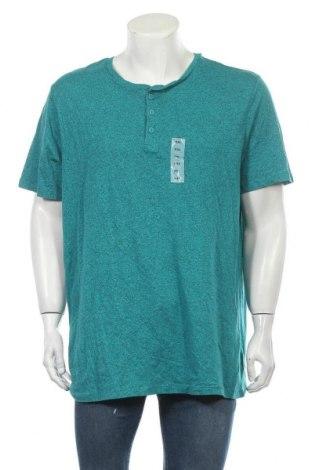 Мъжка тениска Old Navy, Размер XXL, Цвят Зелен, 60% памук, 40% полиестер, Цена 21,95лв.