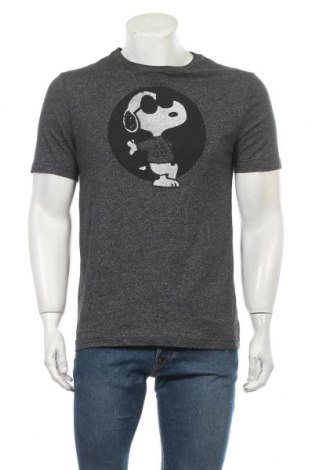 Мъжка тениска Peanuts, Размер M, Цвят Сив, 60% памук, 40% полиестер, Цена 16,80лв.