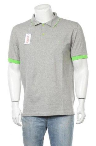 Ανδρικό t-shirt SUN68, Μέγεθος XXL, Χρώμα Γκρί, 95% βαμβάκι, 5% ελαστάνη, Τιμή 21,58€