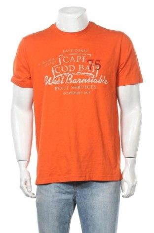 Мъжка тениска Schiesser, Размер M, Цвят Оранжев, Памук, Цена 16,96лв.