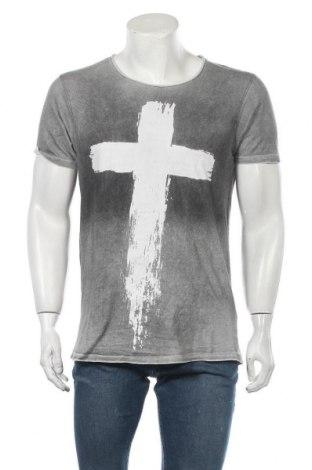 Мъжка тениска Smog, Размер L, Цвят Сив, Памук, Цена 18,90лв.