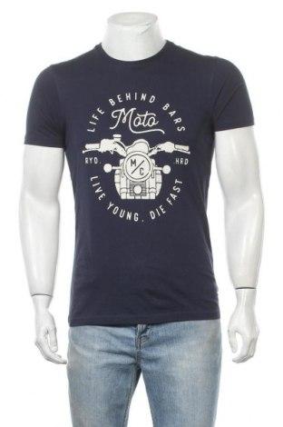 Ανδρικό t-shirt Tex, Μέγεθος S, Χρώμα Μπλέ, Βαμβάκι, Τιμή 11,04€