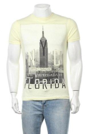 Ανδρικό t-shirt Tex, Μέγεθος S, Χρώμα Κίτρινο, Βαμβάκι, Τιμή 9,87€