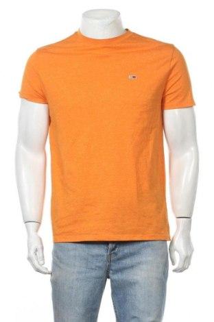 Ανδρικό t-shirt Tommy Hilfiger, Μέγεθος M, Χρώμα Πορτοκαλί, 60% βαμβάκι, 40% πολυεστέρας, Τιμή 22,73€