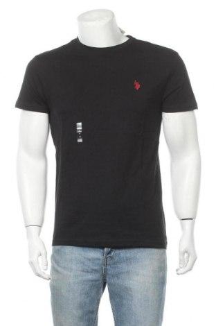 Ανδρικό t-shirt U.S. Polo Assn., Μέγεθος M, Χρώμα Μαύρο, 100% βαμβάκι, Τιμή 24,19€