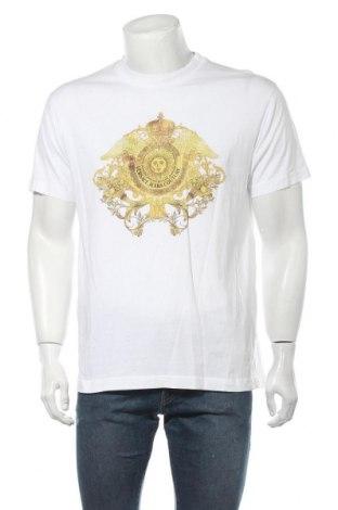 Мъжка тениска Versace Jeans, Размер L, Цвят Бял, Памук, Цена 189,07лв.