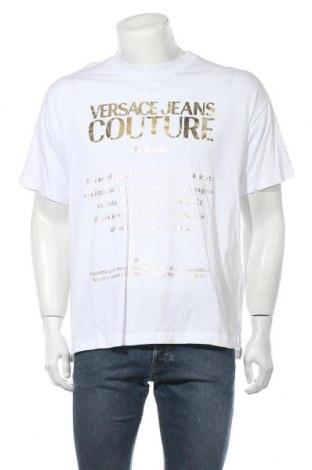 Мъжка тениска Versace Jeans, Размер M, Цвят Бял, Памук, Цена 189,07лв.