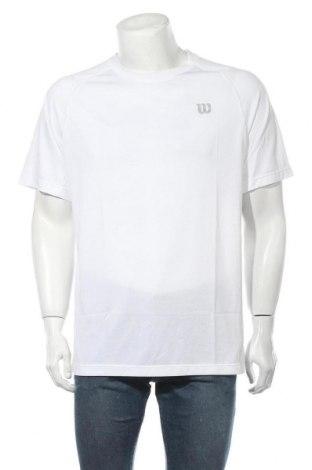 Ανδρικό t-shirt Wilson, Μέγεθος L, Χρώμα Λευκό, 94% πολυεστέρας, 6% πολυαμίδη, Τιμή 8,30€