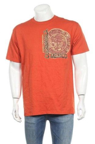 Мъжка тениска Yazbek, Размер L, Цвят Оранжев, Памук, Цена 14,18лв.