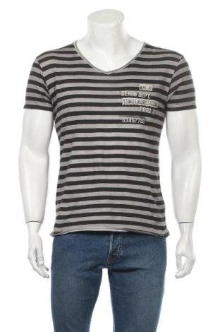 Ανδρικό t-shirt Yes Or No, Μέγεθος S, Χρώμα Γκρί, Βαμβάκι, Τιμή 9,38€