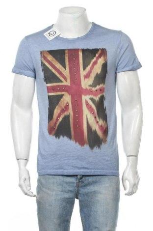Ανδρικό t-shirt Yes Or No, Μέγεθος M, Χρώμα Μπλέ, Βαμβάκι, Τιμή 12,34€