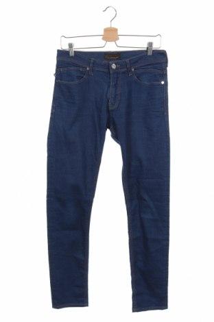 Мъжки дънки Zara Man, Размер S, Цвят Син, Цена 14,18лв.