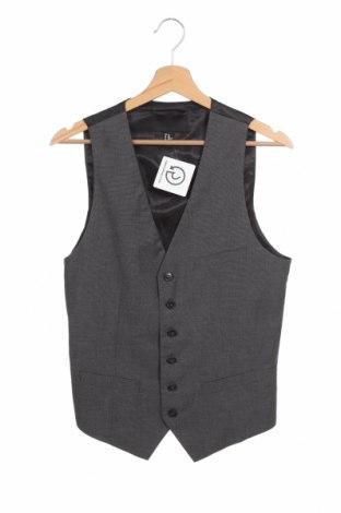 Мъжки елек H&M, Размер S, Цвят Сив, 83% полиестер, 15% вискоза, 2% еластан, Цена 7,09лв.
