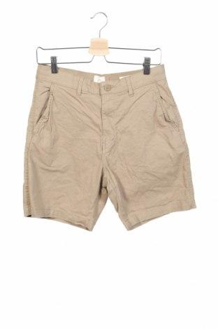 Ανδρικό κοντό παντελόνι H&M L.O.G.G., Μέγεθος S, Χρώμα  Μπέζ, 98% βαμβάκι, 2% ελαστάνη, Τιμή 13,64€