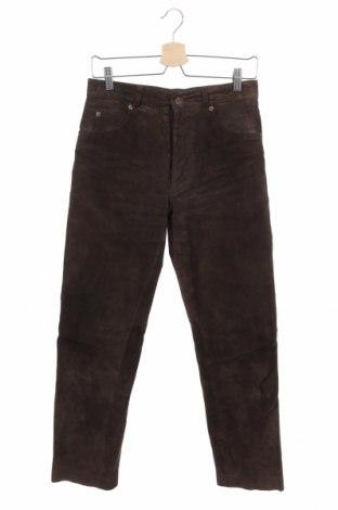Ανδρικό δερμάτινο παντελόνι Gipsy, Μέγεθος S, Χρώμα Καφέ, Γνήσιο δέρμα, Τιμή 18,64€