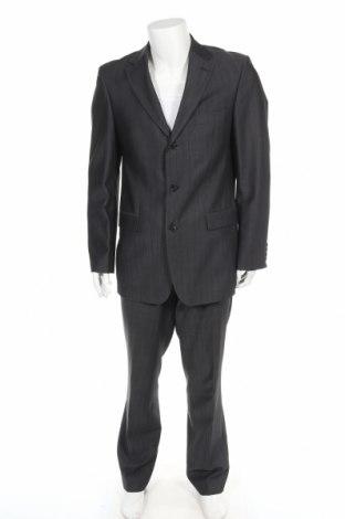 Мъжки костюм Hugo Boss, Размер M, Цвят Сив, Вълна, Цена 109,85лв.
