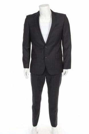 Мъжки костюм Hugo Boss, Размер L, Цвят Сив, Вълна, Цена 116,35лв.