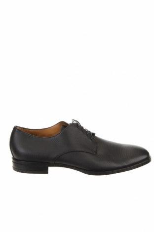 Мъжки обувки Hugo Boss, Размер 43, Цвят Черен, Естествена кожа, Цена 137,34лв.