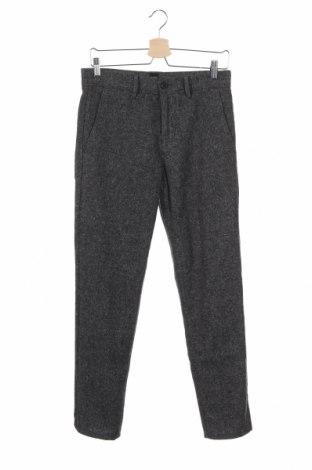 Мъжки панталон Boss Orange, Размер S, Цвят Сив, 48% вълна, 23% полиестер, 12% акрил, 6% други тъкани, 5% коприна, Цена 112,00лв.