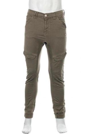 Мъжки панталон Gang, Размер S, Цвят Зелен, 97% памук, 3% еластан, Цена 33,08лв.