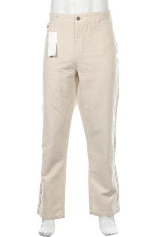 Ανδρικό παντελόνι Kiabi, Μέγεθος XL, Χρώμα  Μπέζ, 56% βαμβάκι, 44% λινό, Τιμή 21,04€