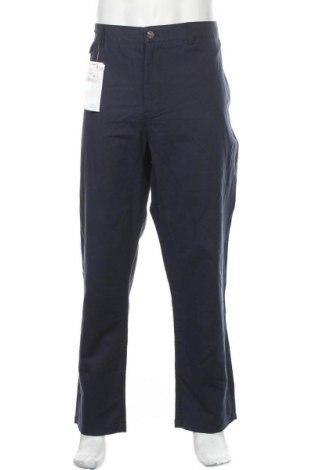 Ανδρικό παντελόνι Kiabi, Μέγεθος XXL, Χρώμα Μπλέ, 56% βαμβάκι, 44% λινό, Τιμή 29,62€