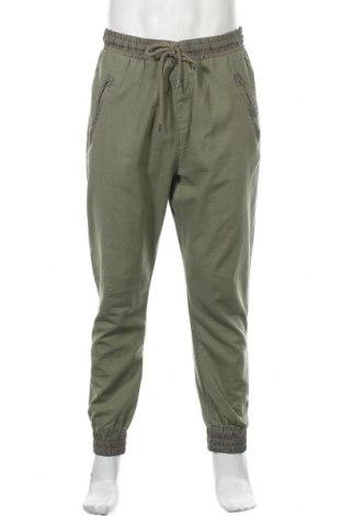 Ανδρικό παντελόνι Review, Μέγεθος L, Χρώμα Πράσινο, 45% βαμβάκι, 55% λινό, Τιμή 16,05€